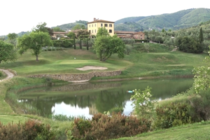 over the water to reach the club house at Montecatini Golf
