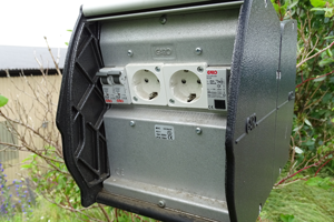 power supply at Tomelilla Golf Course