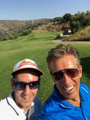 all the options to play with a golf guide on the Crete Golf Club